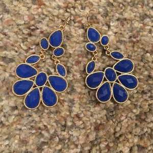 Blue chandelier earrings new never used AVON